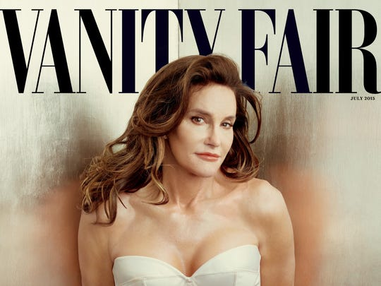Vanity Fair shows the cover of the magazine's July 2015 issue featuring Bruce Jenner debuting as a transgender woman named Caitlyn Jenner.