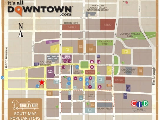The Trolley Bike's downtown route is customizable,