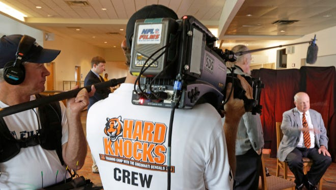 """An HBO """"Hard Knocks"""" television crew"""