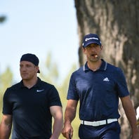 Aaron Rodgers gets paired with Tony Romo at celeb golf tournament in Tahoe, smokes cigar