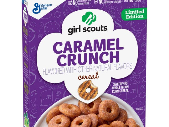 One of the flavors of the Girl Scout cookie cereals