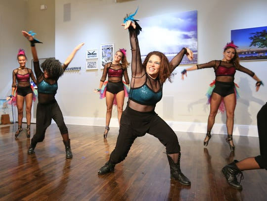 Dancers from Coupe Dance Studio perform during the
