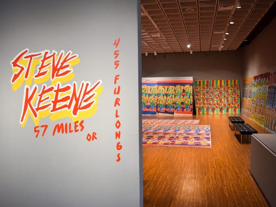 Steve Keene's exhibit opened April 12 at Rauschenberg Gallery in Fort Myers,