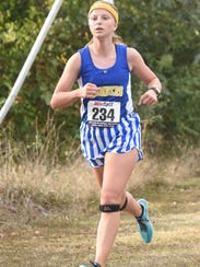 Mountain Home's Marcie Cudworth runs during the Bomber
