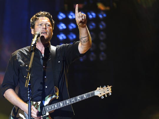 "Blake Shelton, seen during a 2013 performance at Klipsch Music Center, is a ""distinctive"" act for Indiana listeners -- but he's not the favorite."