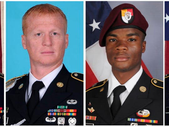 These images provided by the U.S. Army show, from left,
