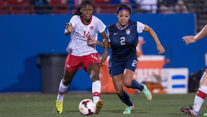 Sydney Leroux (2) will be the focal point of the Western New York Flash attack in the first three matches before she leaves to join the U.S. squad.