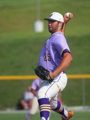 Campbell County senior Austin Hoeh pitches to Montgomery