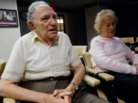 Leonard Queen, 91, and his wife Shirley, 89, residents