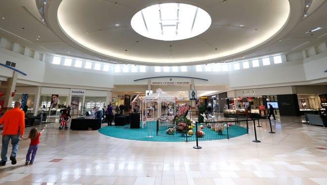 Shoppers walk through Ocean County Mall. Toms River,NJ. Thursday, March 3,2016. Noah K. Murray/Correspondent ASB 0306 Biz Malls