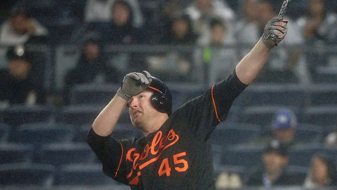 Baltimore's Mark Trumbo led the major leagues with 47 home runs, the fourth straight Orioles player to hit the most in the big leagues.