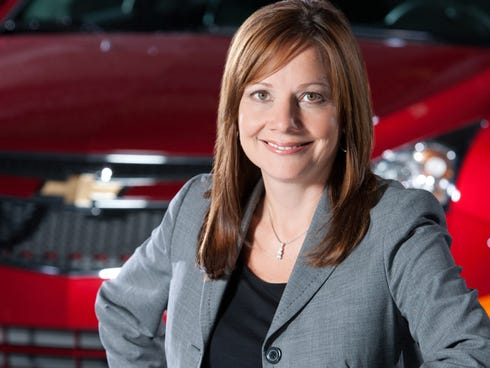 Mary Barra, General Motors��� senior vice president for product development, will become the first female chief executive of a major automaker.