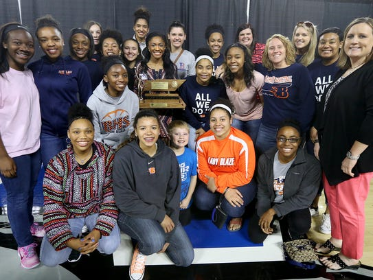 Blackman's Crystal Dangerfield is surrounded by her