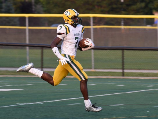Harrison senior Ovie Oghoufo, headed to Norte Dame, hopes to end his prep career with a victory in Saturday' s D-3 state championship game.