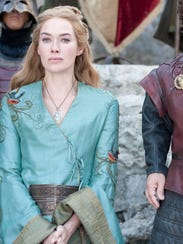 Lena Headey (left) as Cersei Lannister.