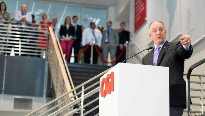 Gov. John Bel Edwards during the opening ceremony for the CGI Onshore IT Delivery Center in Lafayette.