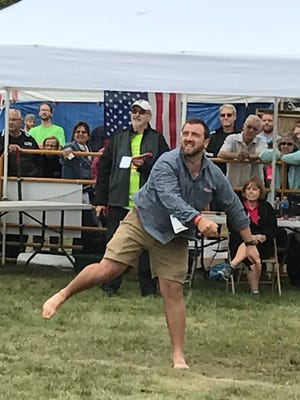 Contestants in the men's division hoped to beat state record holder Greg Neumaier's throw of 248 feet that was set in 1991. After Saturday's event, the 26-year-old record still stands.