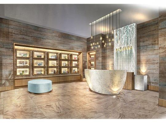Omni Louisville artist rendering of the spa.
