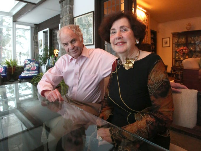 Carole and Howard Berman in their 1927 Tudor in Eastchester,