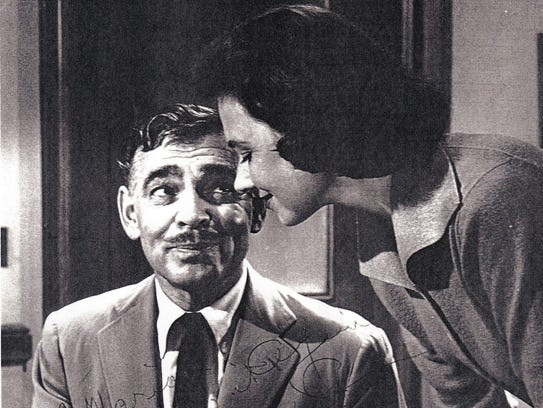 Signed photo of Marion Ross with Clark Gable in Teachers