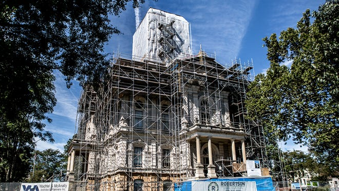 The Licking County Courthouse renovation project, ongoing throughout 2016, will continue next year.