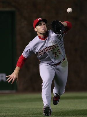 Adam Duvall has been impressive in his move from third base to the outfield.