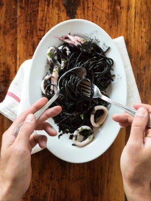 Squid ink pasta is on the menu for Heirloom Kitchen's upcoming chef's table dinner.