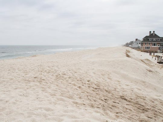 The Mantoloking Beach, pictured at Princeton Avenue, is accessible by 10 walkways over the dunes.