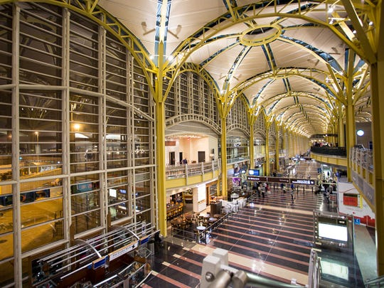 Washington DC's Reagan National Airport gleams in the
