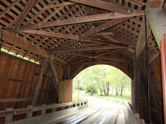 "The last covered bridge built by the legendary ""Uncle"