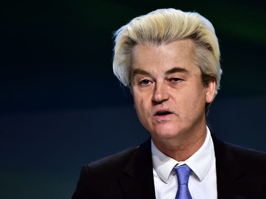 Dutch far-right Freedom Party leader Geert Wilders.