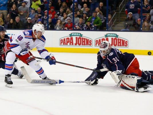 USP NHL: NEW YORK RANGERS AT COLUMBUS BLUE JACKETS S HKN USA OH