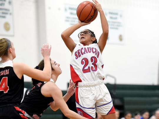 Damaris Rodriguez averaged 13.3 points and 7.2 assists per game in her freshman season for Secaucus.
