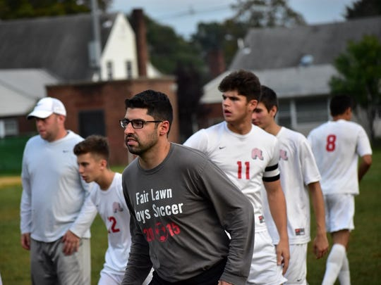 Fair Lawn coach Matt Cecconi is in his fifth year leading the boys soccer team.