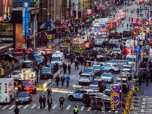 AP NYC SUBWAY PLATFORM EXPLOSION A USA NY