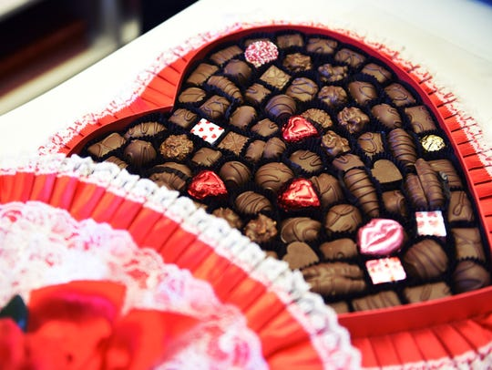 A large box ofValentinegift chocolate is seen at