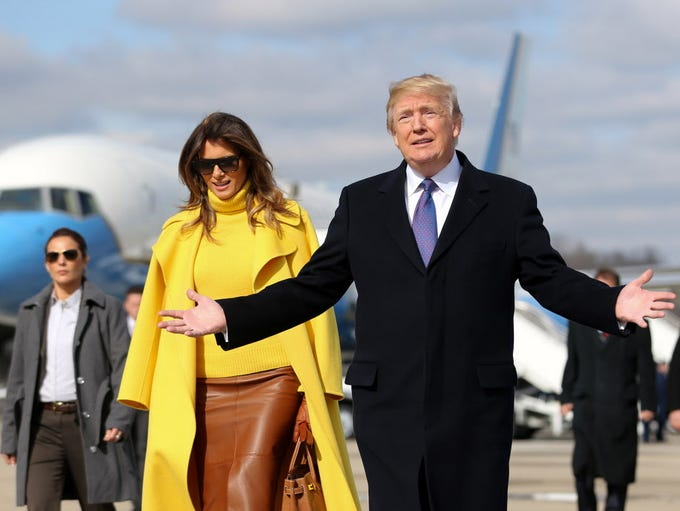 President Trump and first lady Melania.