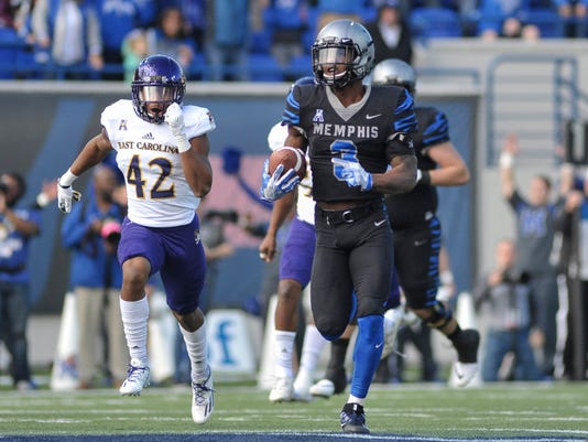 NCAA Football: East Carolina at Memphis