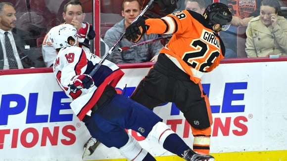 Flyers captain Claude Giroux expects a physical first half of the first period Thursday night.