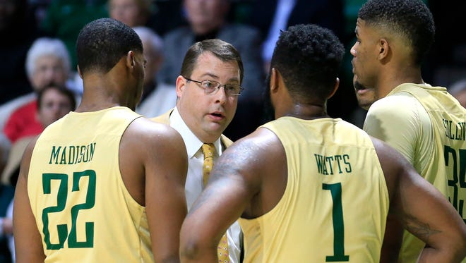 Feb 4, 2016; Birmingham, AL, USA; UAB Blazers head coach Jerod Haase talks to his players during the game against the Florida International Golden Panthers  at Bartow Arena. Mandatory Credit: Marvin Gentry-USA TODAY Sports