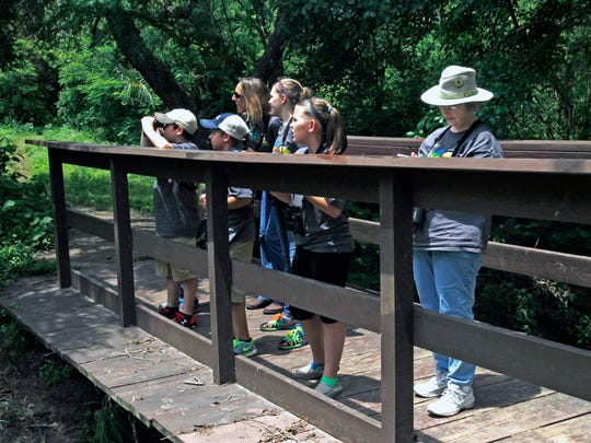 The Audubon Outdoor Club hosts bird walks at 7:30 a.m. every Saturday and Sunday morning in April at Blucher Park