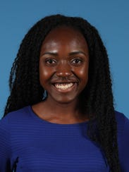 """Oluwatofunmi """"Jummie"""" Akinwunmi, the valedictorian from Beacon High School, honored at the 53rd annual Carroll F. Johnson Scholastic Achievement Dinner at the DoubleTree by Hilton in Tarrytown, May 16, 2018."""