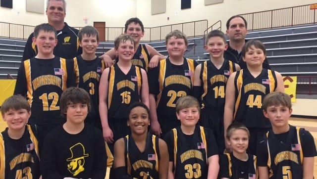 The Waynesville mites basketball team.