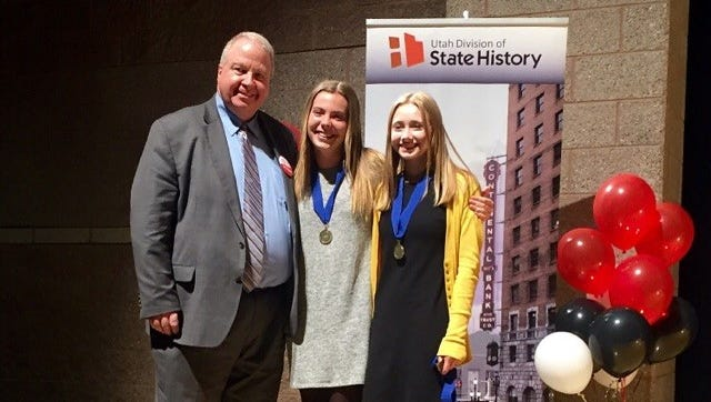 Snow Canyon Middle School's Megan Royer and Kennady McCaul were chosen from nearly 6,000 Utah students in grades 4 through 12 to participate in the National History Day competition in Washington D.C.