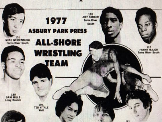 The 1977 Asbury Park Press All-Shore wrestling team,