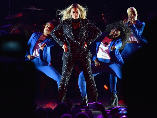 Beyonce performs onstage during a Get Out the Vote