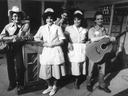 "The cast of Abilene Community Theatre's ""Pump Boys"