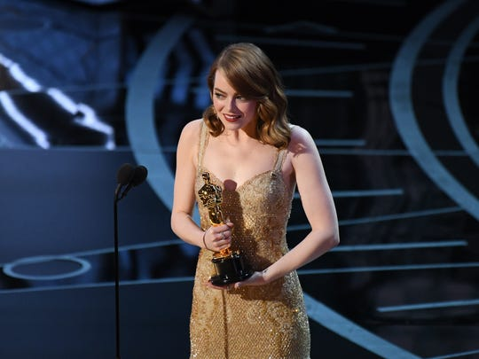 Emma Stone wins best actress for 'La La Land.'