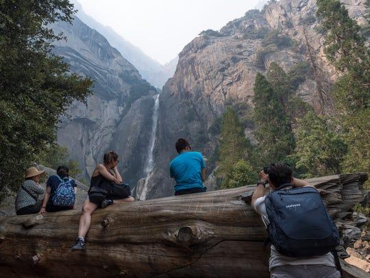 Lower Yosemite Falls is just one of the landmark vistas