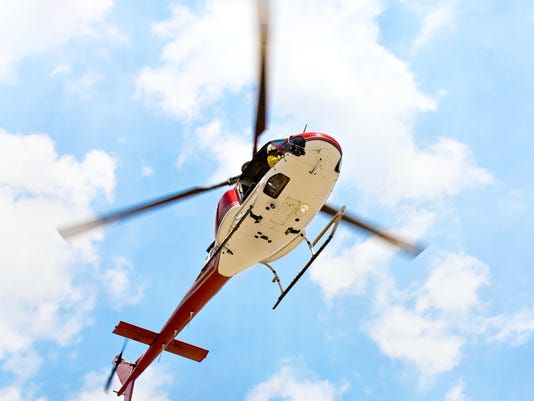 helicopter with pilot